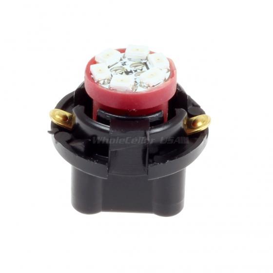 6xT10 Red LED 194 Socket Instrument Panel Cluster Bulb Dashboard Plug T10 SMD