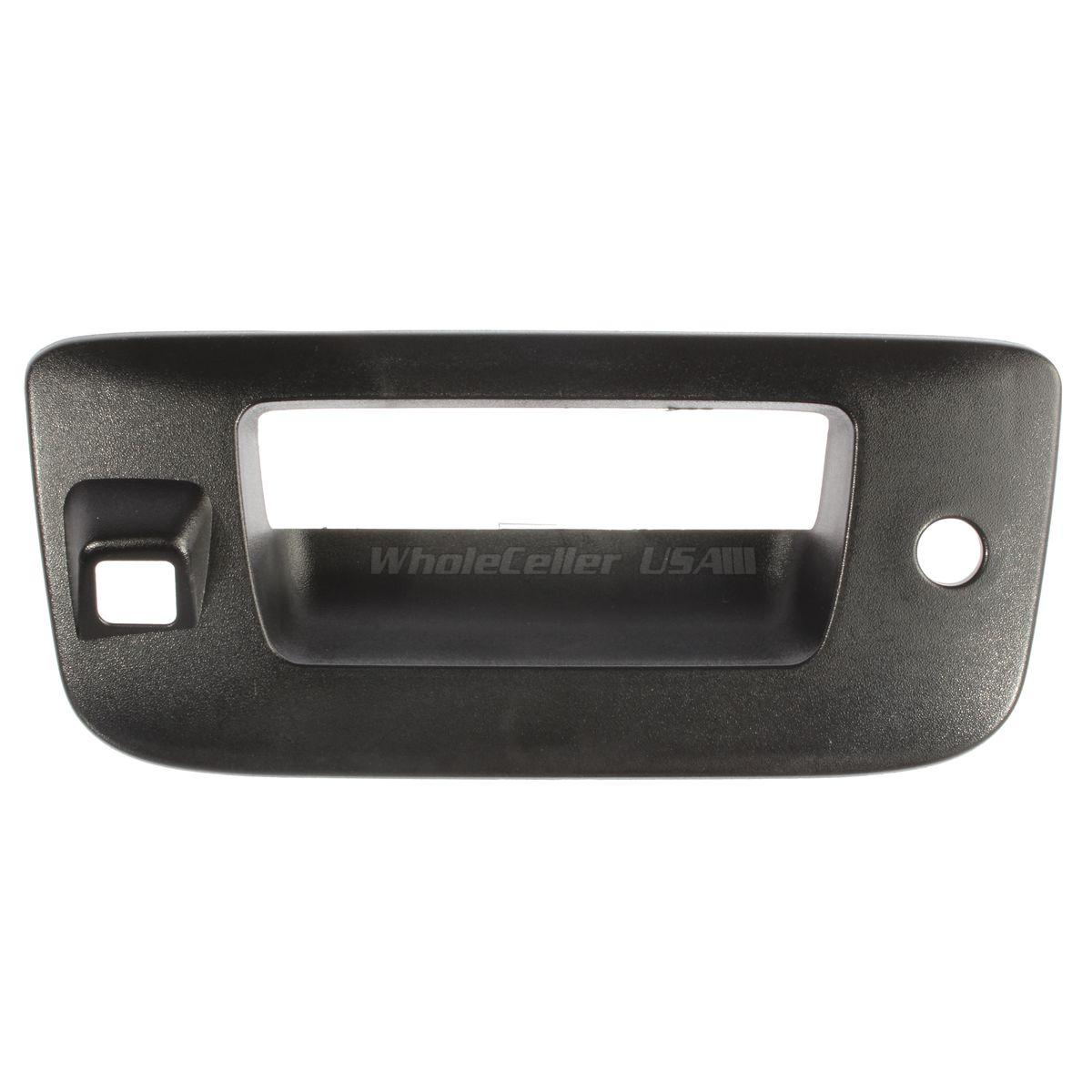 Black Tailgate Handle Bezel with Key Camera Hole for 07-14 GMC Silverado Sierra