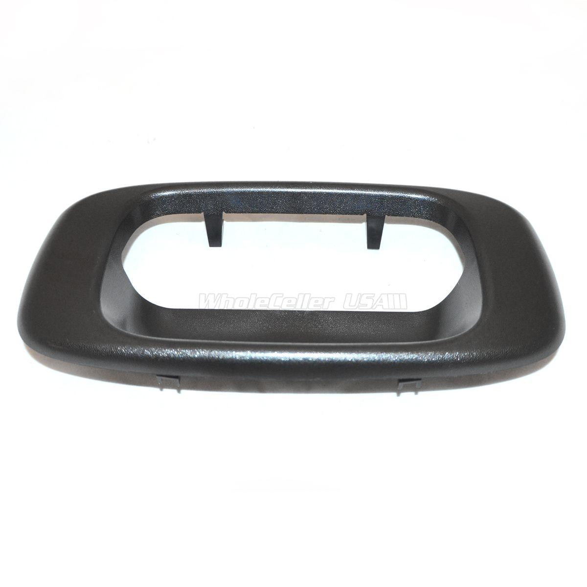 76106 Black Rear Tailgate Handle Bezel Door Handle for 1999-2006 GMC Sierra 1500