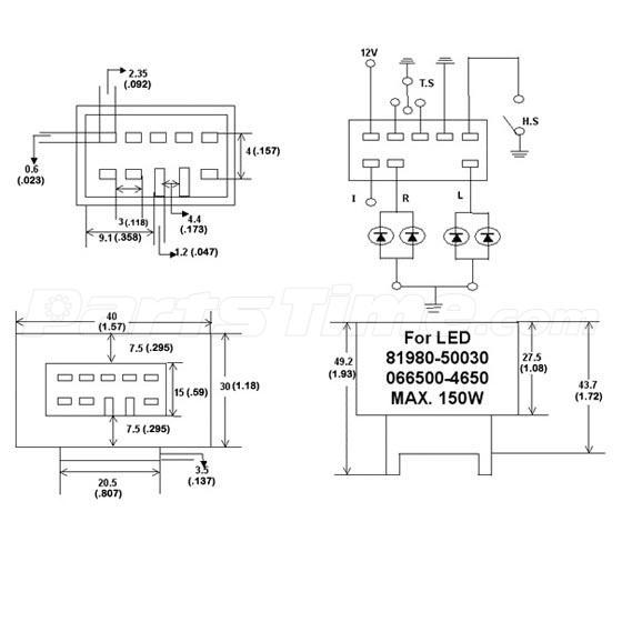 1pcs 8 Pin LED Flasher Relay Fix Signal Lights fast Blink Error