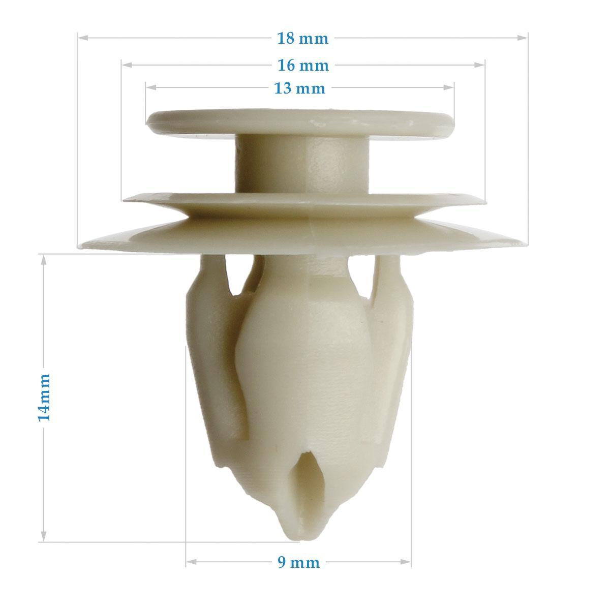30x Nylon Door Trim Panel Lining Clips Rivet Retainer For