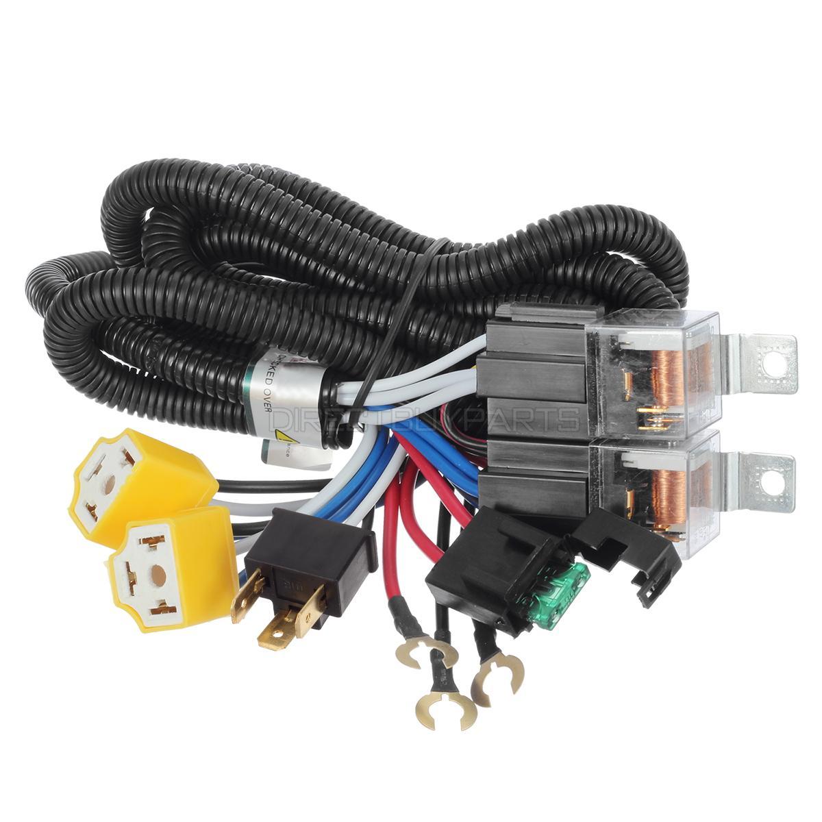 for headlight h4  9003 ceramic controller harness relay roots headlight wiring kit headlight wiring kit clk55 amg 2002
