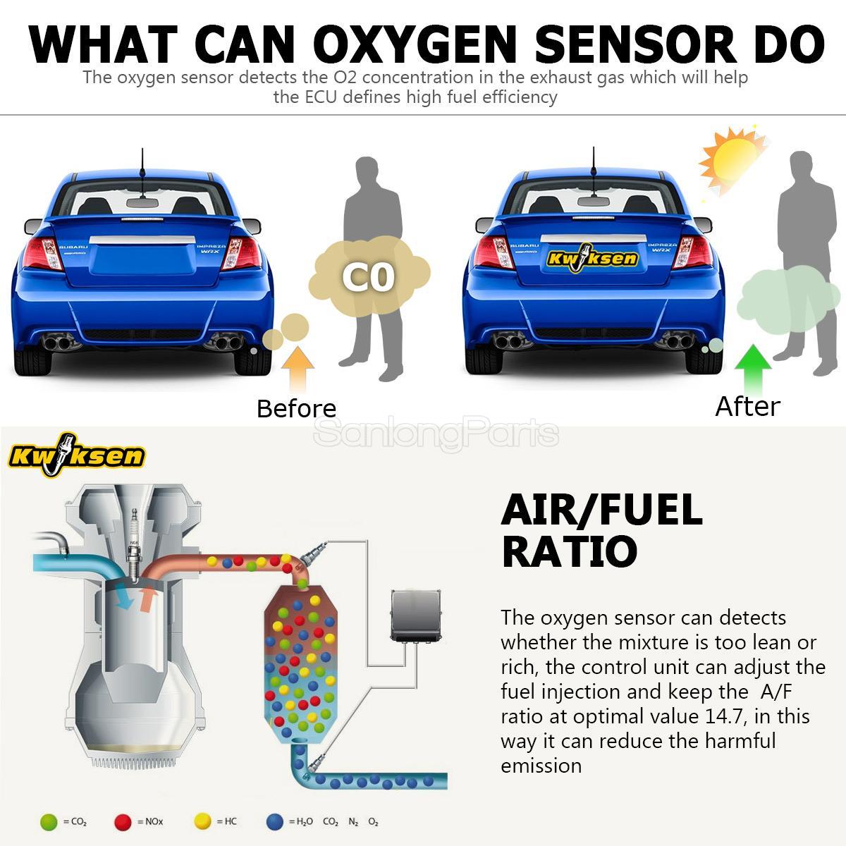 4 Oxygen 02 Sensors for Ford F-150 2004 2005 2006 2007 2008 Upstream Downstream