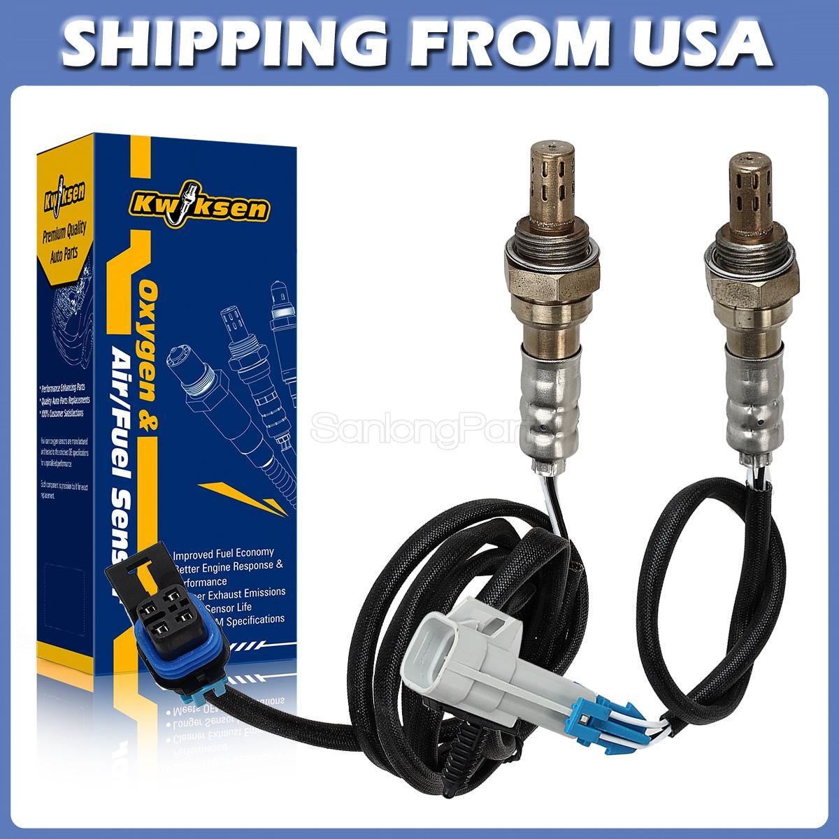 2pcs Upstream/& Downstream Oxygen Sensor O2 for 99 Chevy Malibu Pontiac Grand Am