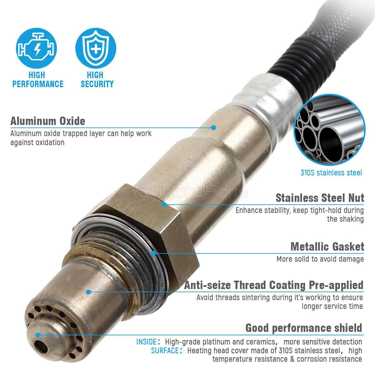 1x Downstream Oxygen O2 Sensor 2 for 2013 Hyundai Elantra Coupe GT 1.8L Exc Cali