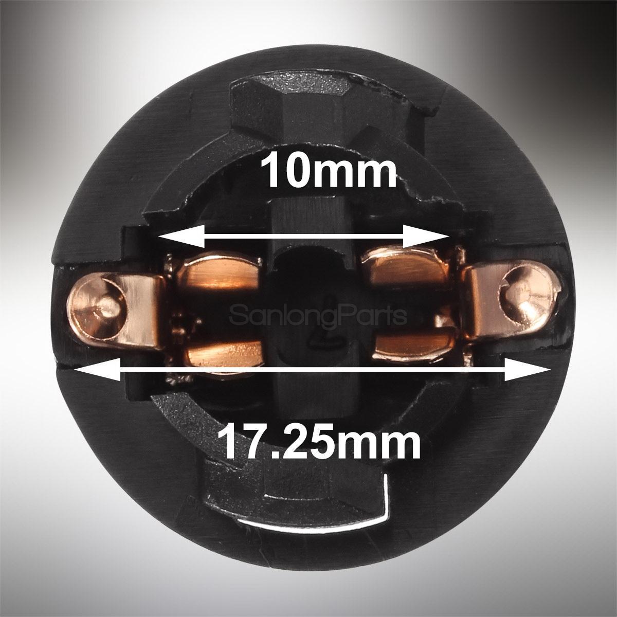 Wedge Instrument Cluster Panel Dash Bulb T3-1//4 50XT10 13mm Holder Base 168//194