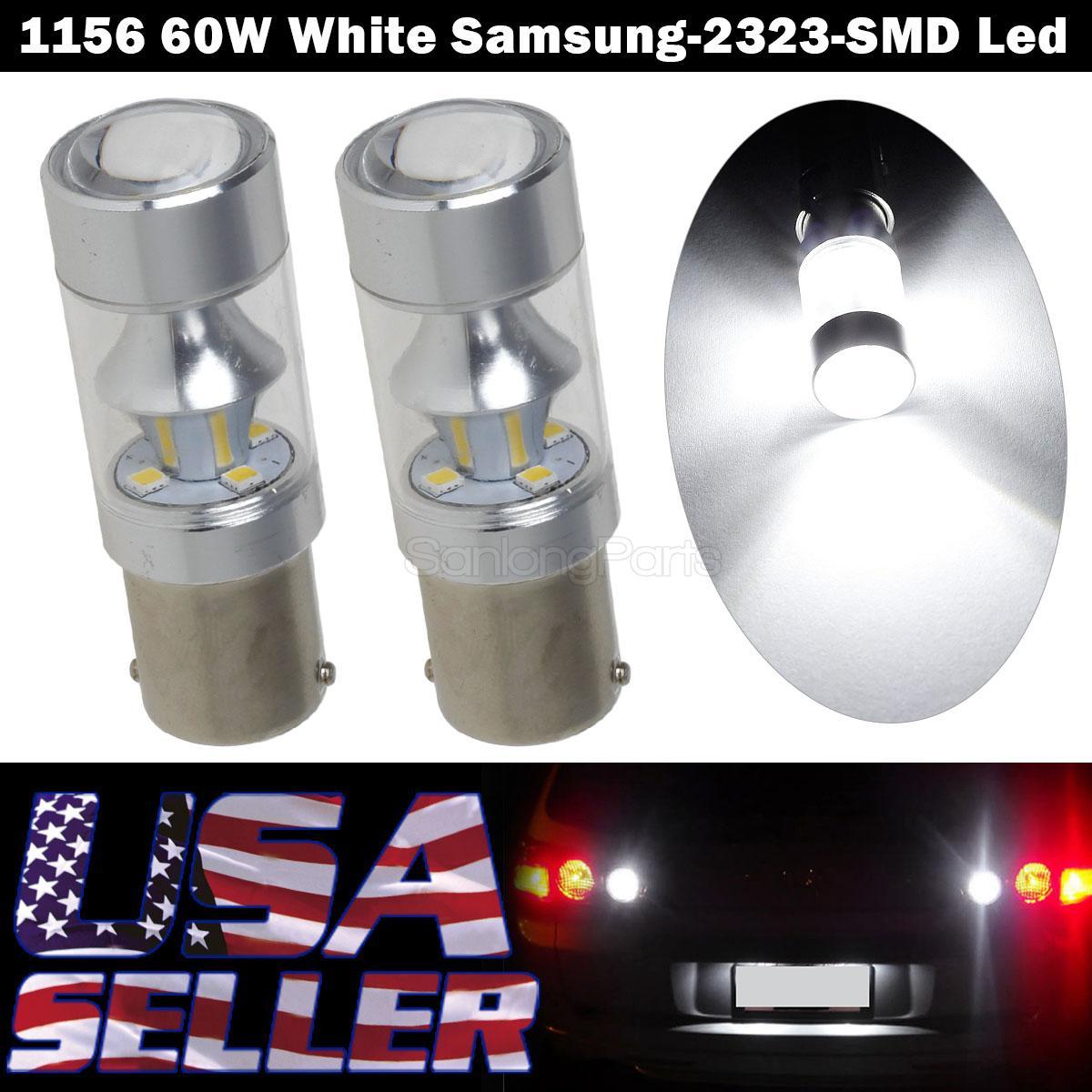 4X Red 1156 30W 60SMD LED US Lamps RV Trailer LED Light Reverse Backup Bulb
