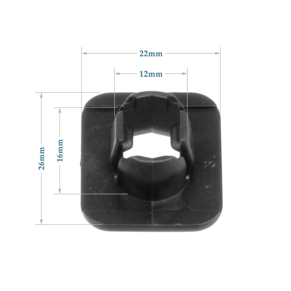 30x Nylon Grille Insulator Backing Plate Clips Rivet Retainer for Nissan Sentra
