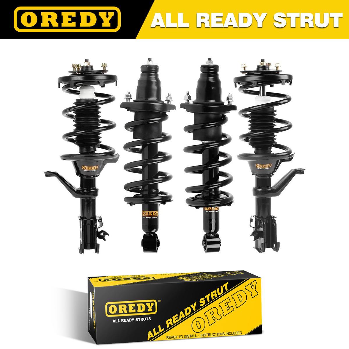 OREDY Front /& Rear Full Set of 4PCS Driver /& Passenger Side Complete Shock Strut Coil Springs Assembly Kit Compatible with Honda CR-V 2007 2008 2009 2010 2011