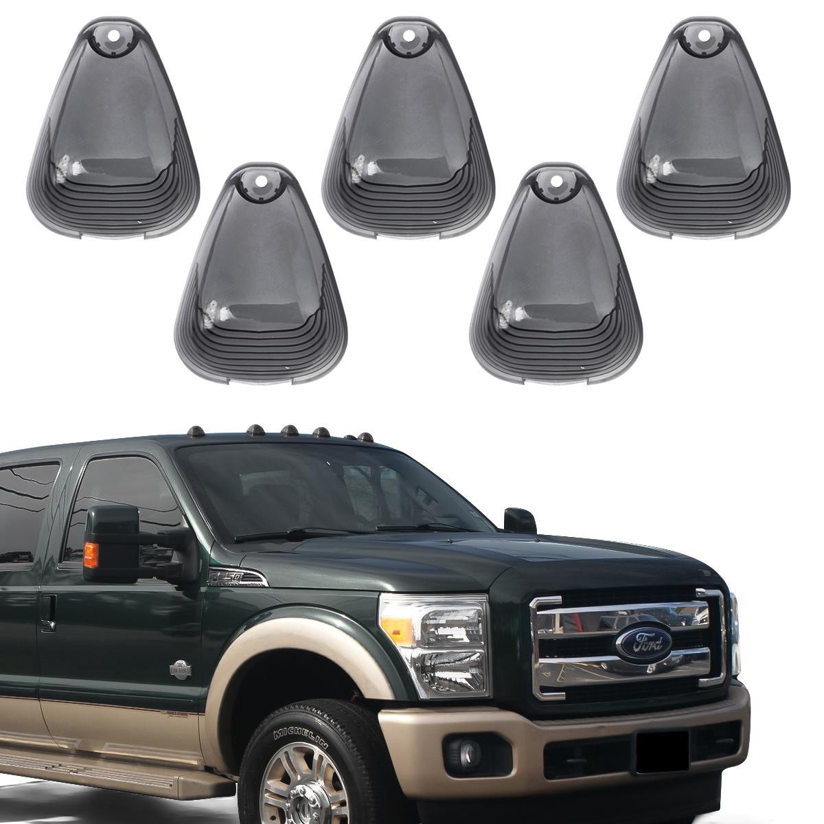 5 Smoke Cab Roof Running Marker Light Cover Lens For Ford