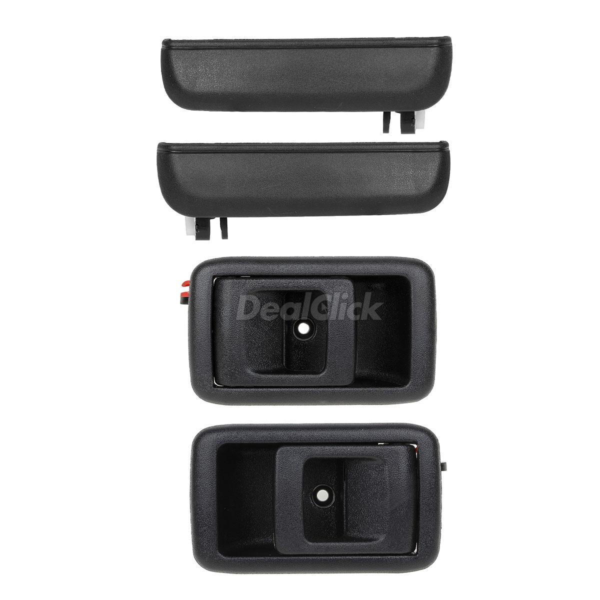 4PCS Black Outside Inside Door Handles Front Left Right For 95-98 Toyota Tercel