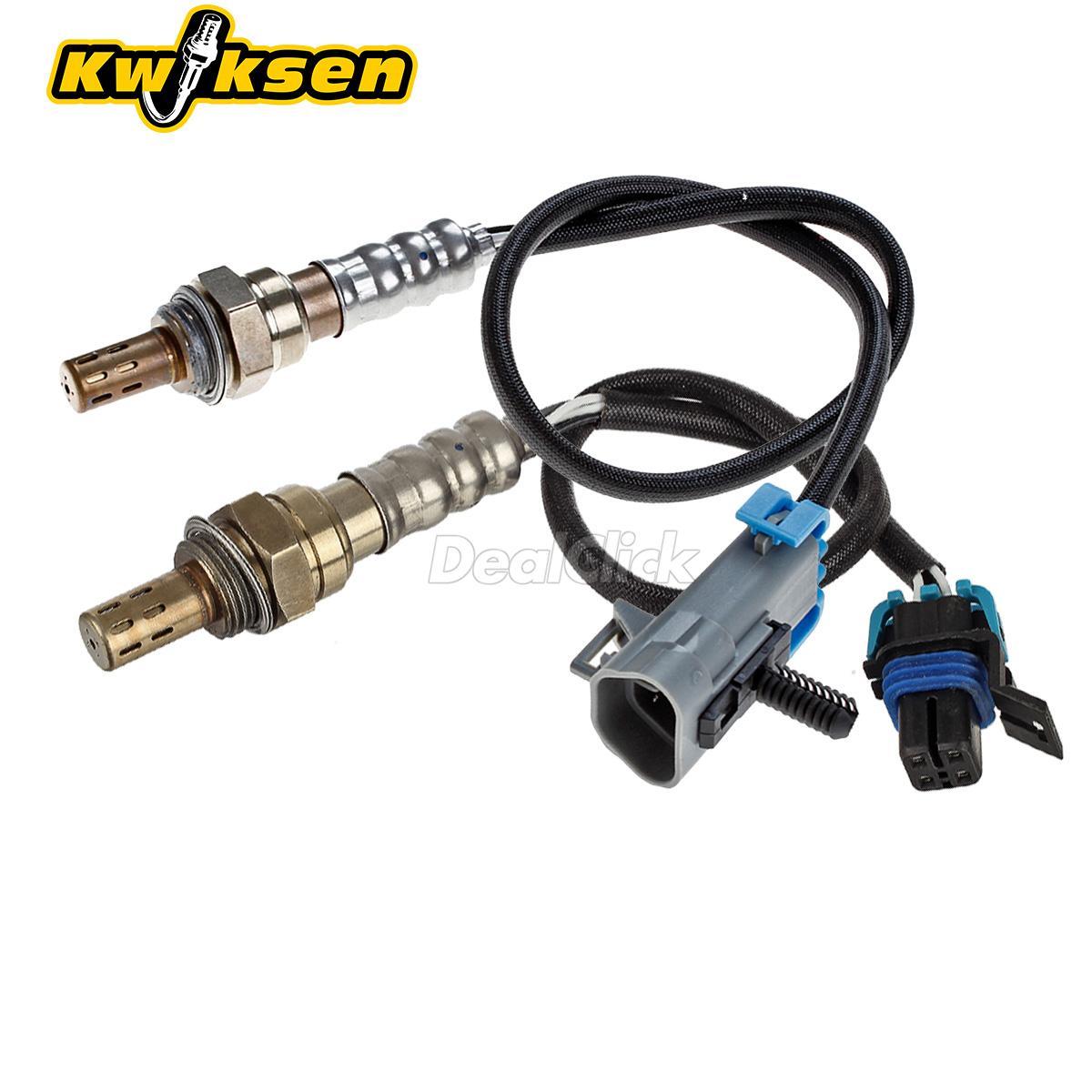 2x Up+Downstream Oxygen O2 Sensor Upper/&Under For 04 05 GMC Canyon 2.8L 3.5L