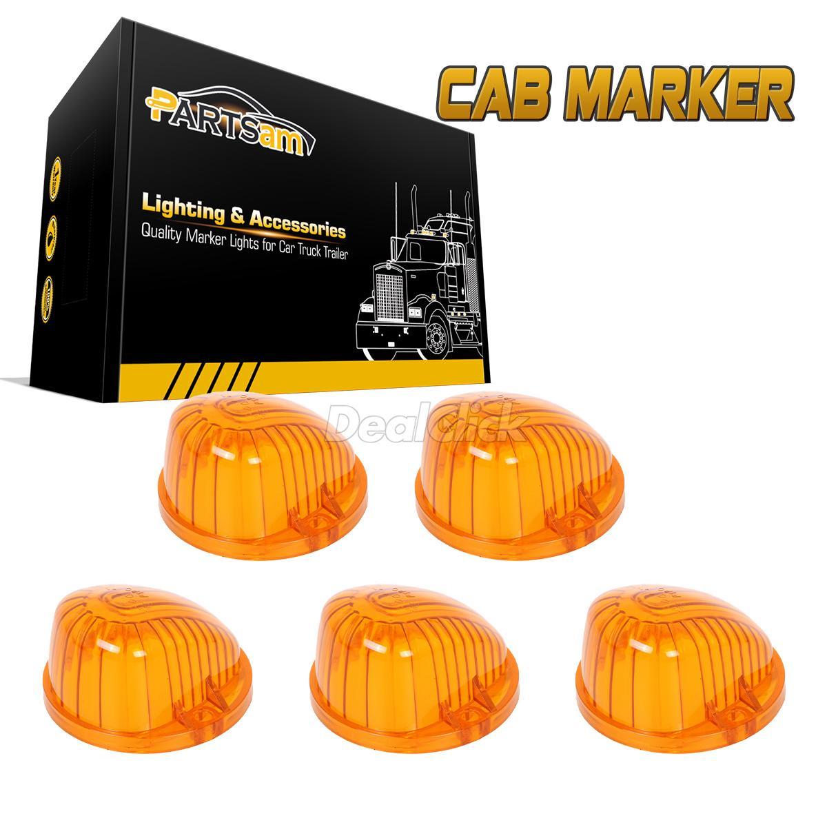 Belts, Hoses & Pulleys 5 Amber Round-Shape Cab Marker Light