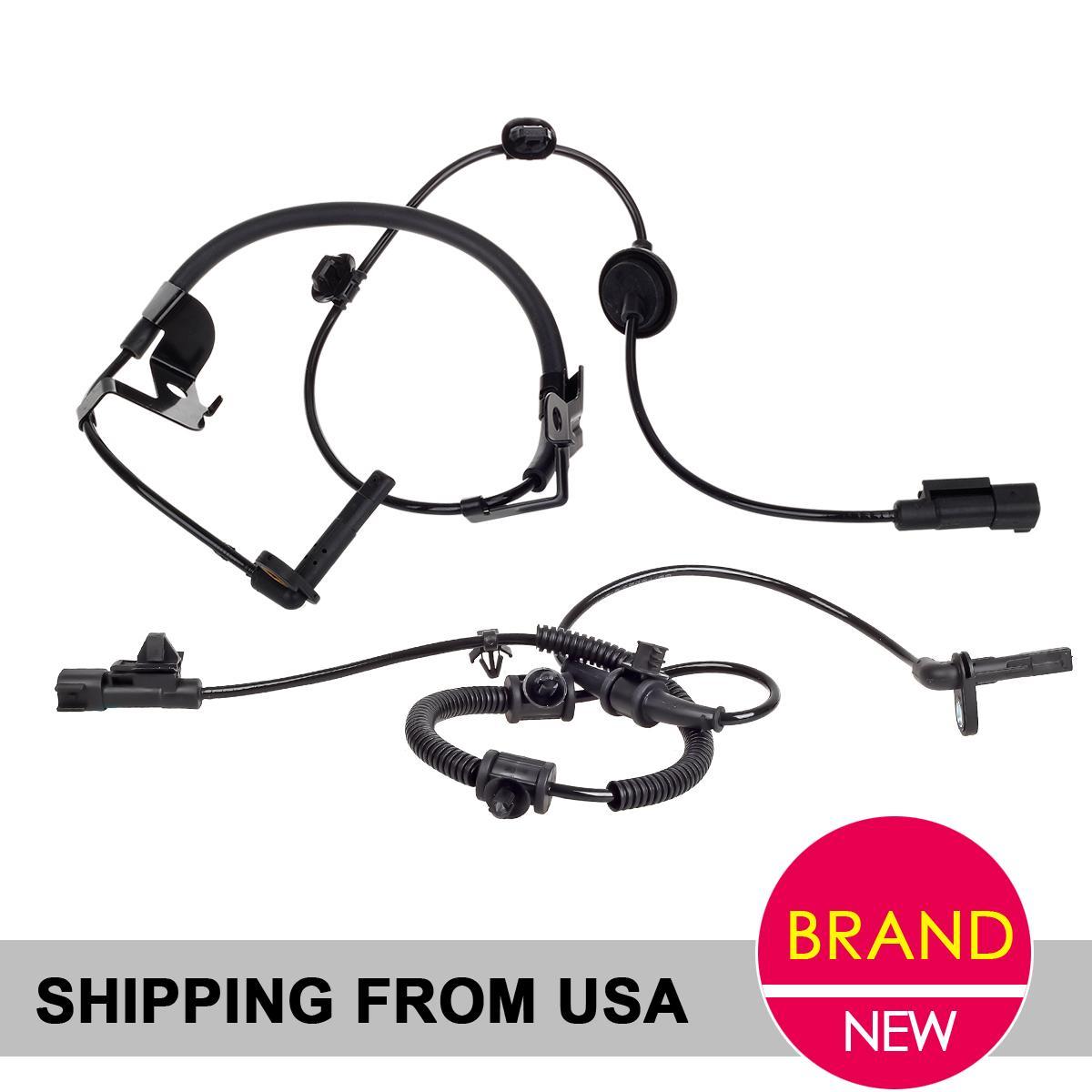 2PCs REAR RIGHT LEFT ABS Wheel Speed Sensor for AWD Mitsubishi Lancer Outlander