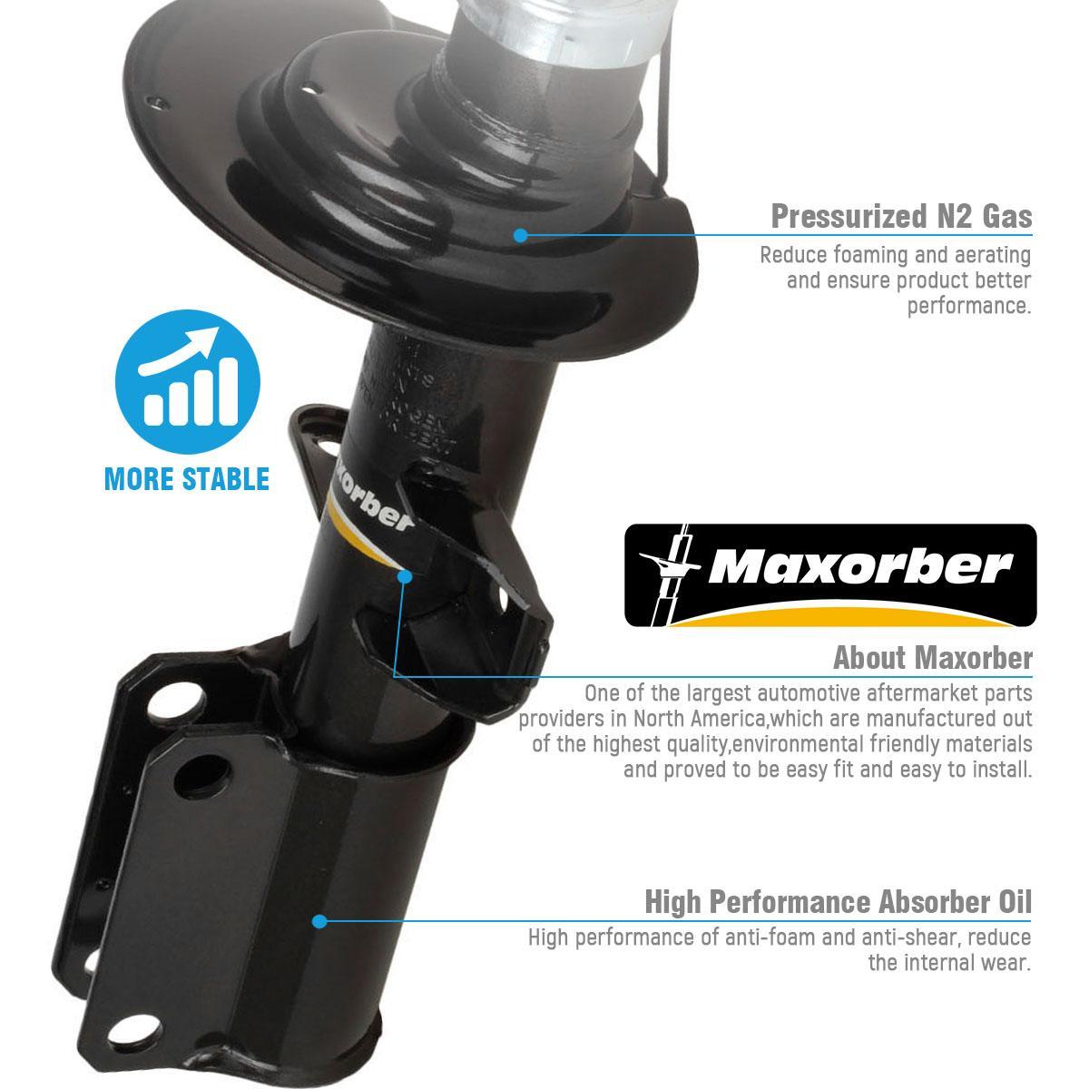 Maxorber Front Kit Shocks Struts Absorber For 00 01 02 03 04 05 06 Audi TT /& Audi TT Quattro