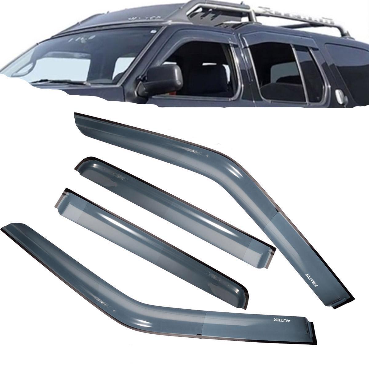 JDM Vent Window Visor In-Channel 4pcs for Nissan Juke 11-17 2011-2017 4 Doors