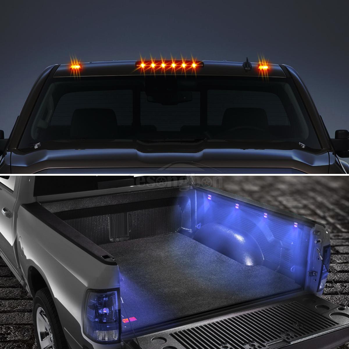 Amber Cab Marker Top Roof Light Blue Led Truck Bed