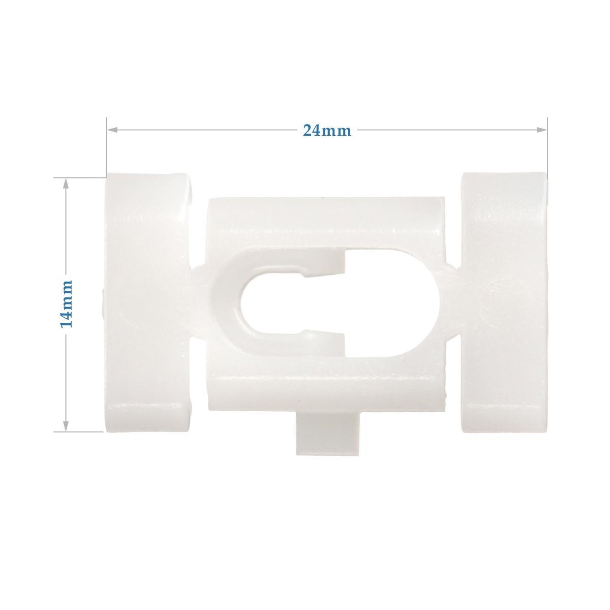 50x Nylon Door Quarter Trim Body Moulding Belt Clips Retainer for Chevy Caprice