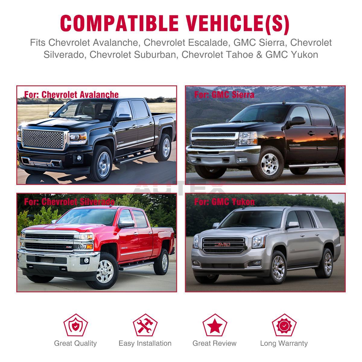 For 07-14 Chevrolet Silverado//Tahoe 80117 Door Handle Exterior Rear Driver Left