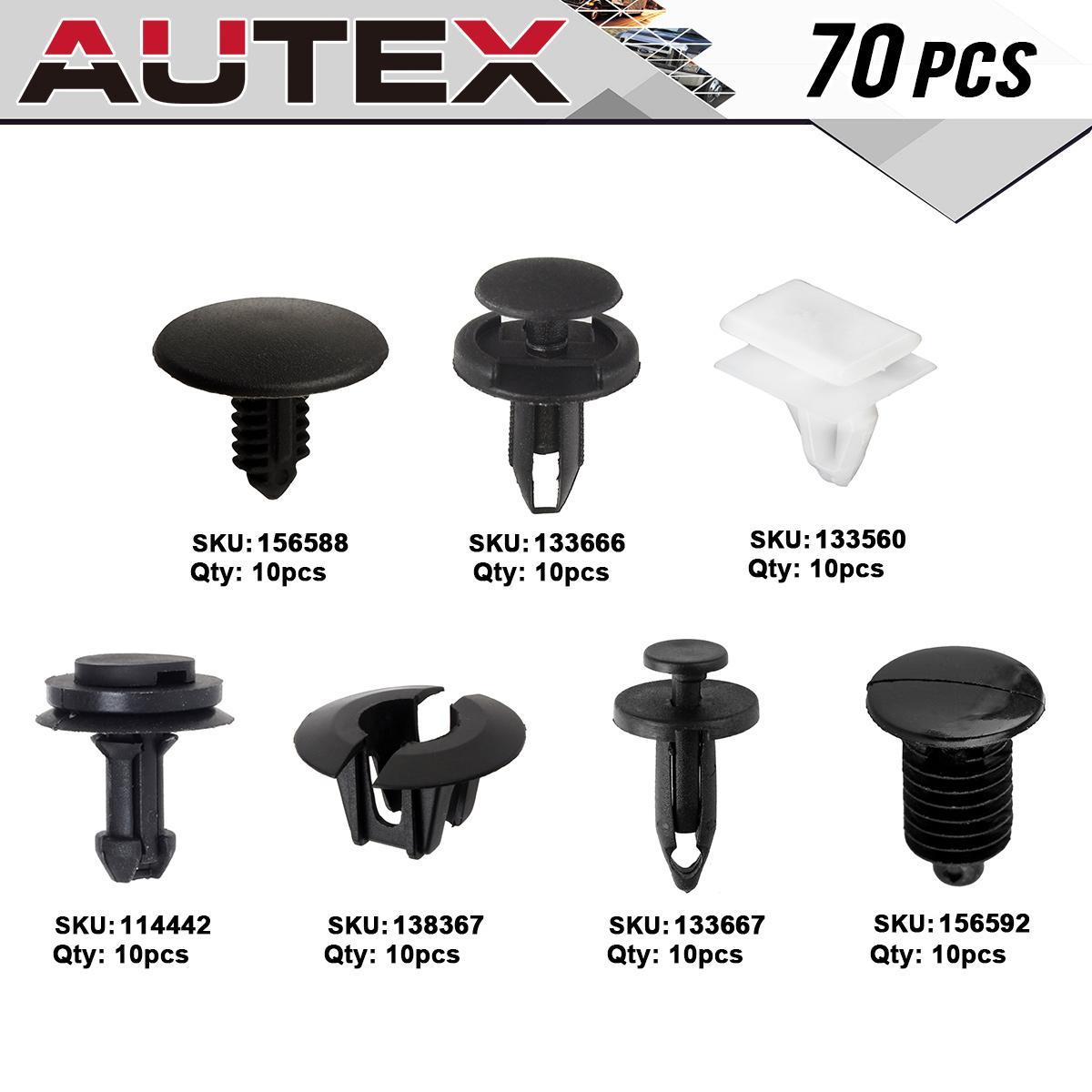 70x Clip Bumper Retainer Rivet Assortment Kit for 2002-2006 Chevrolet Avalanche