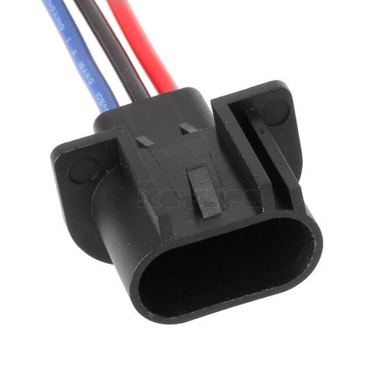 2 pcs 9008 h13 headlamp wiring adapter socket male end. Black Bedroom Furniture Sets. Home Design Ideas