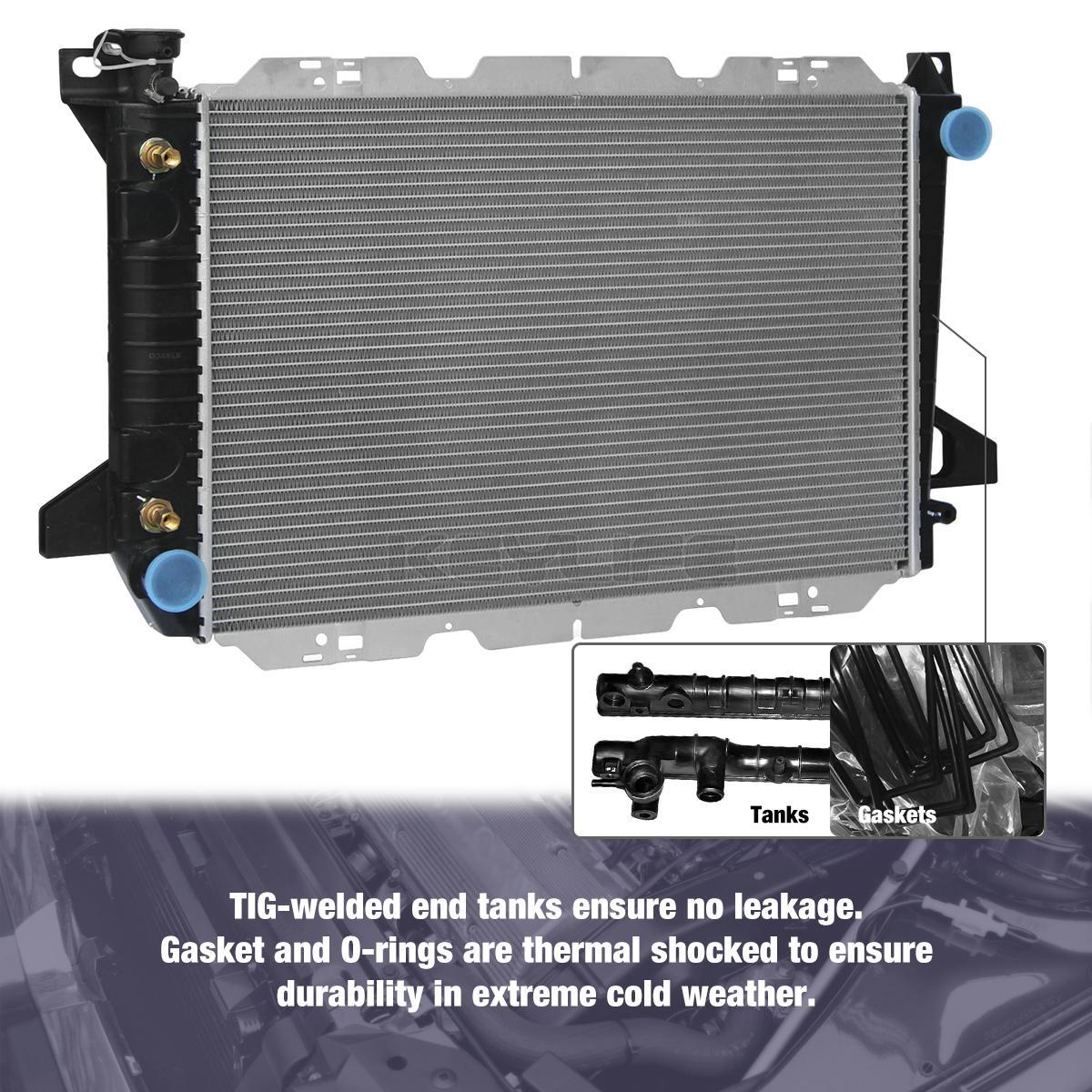 2-Row-Radiator-for-Ford-Bronco-F-150-F-250-F-350-5-0-5-8-7-5-V8