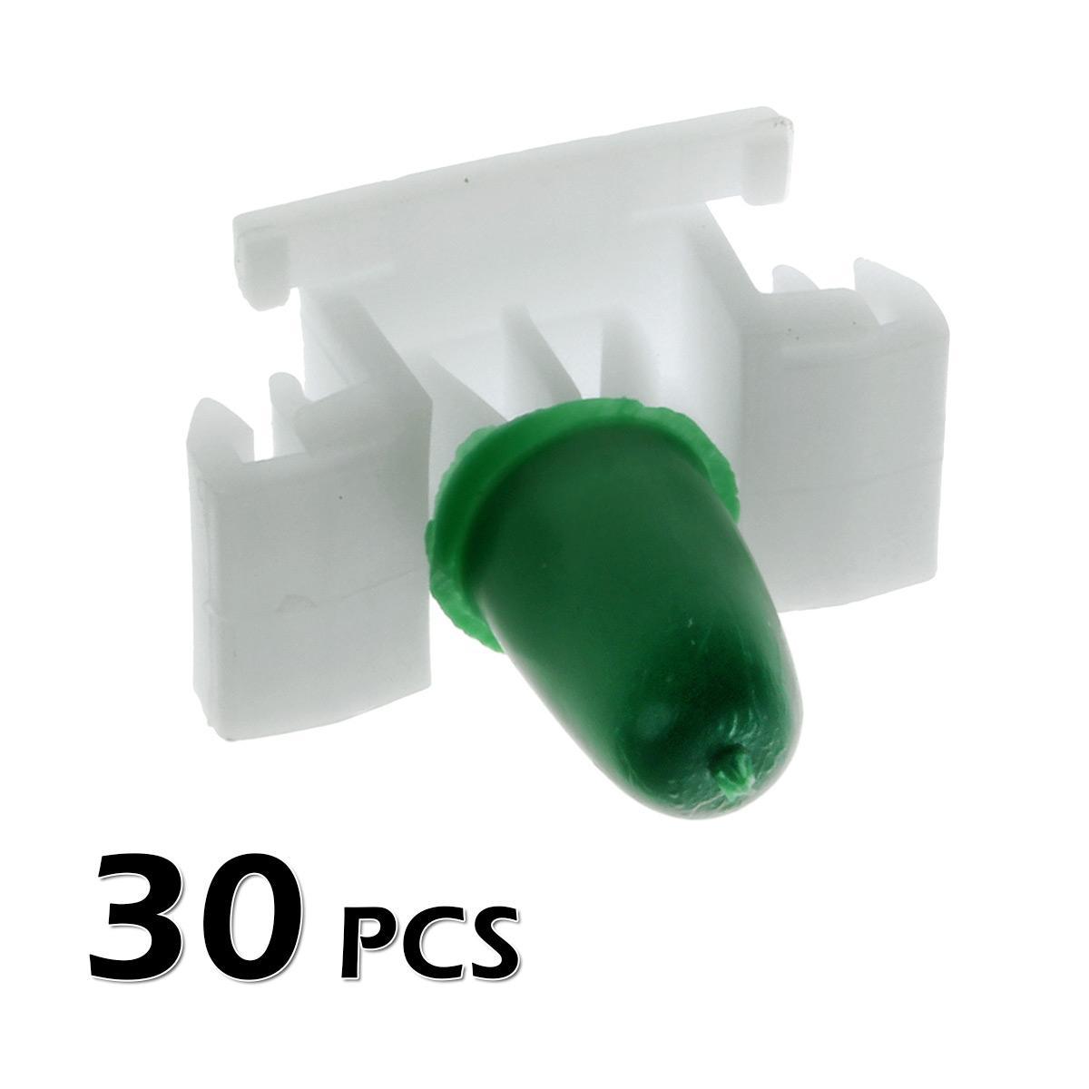 30pcs Door Panel Pillar Garnish Clips Fastener Retainer for 05-10 Honda Odyssey