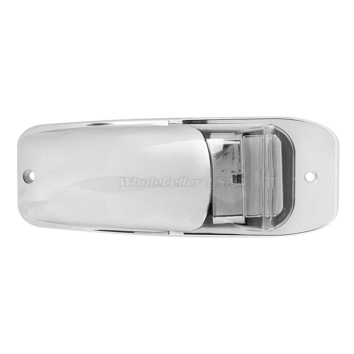 5x Chrome 7led Cab Light Clear Amber For Peterbilt For