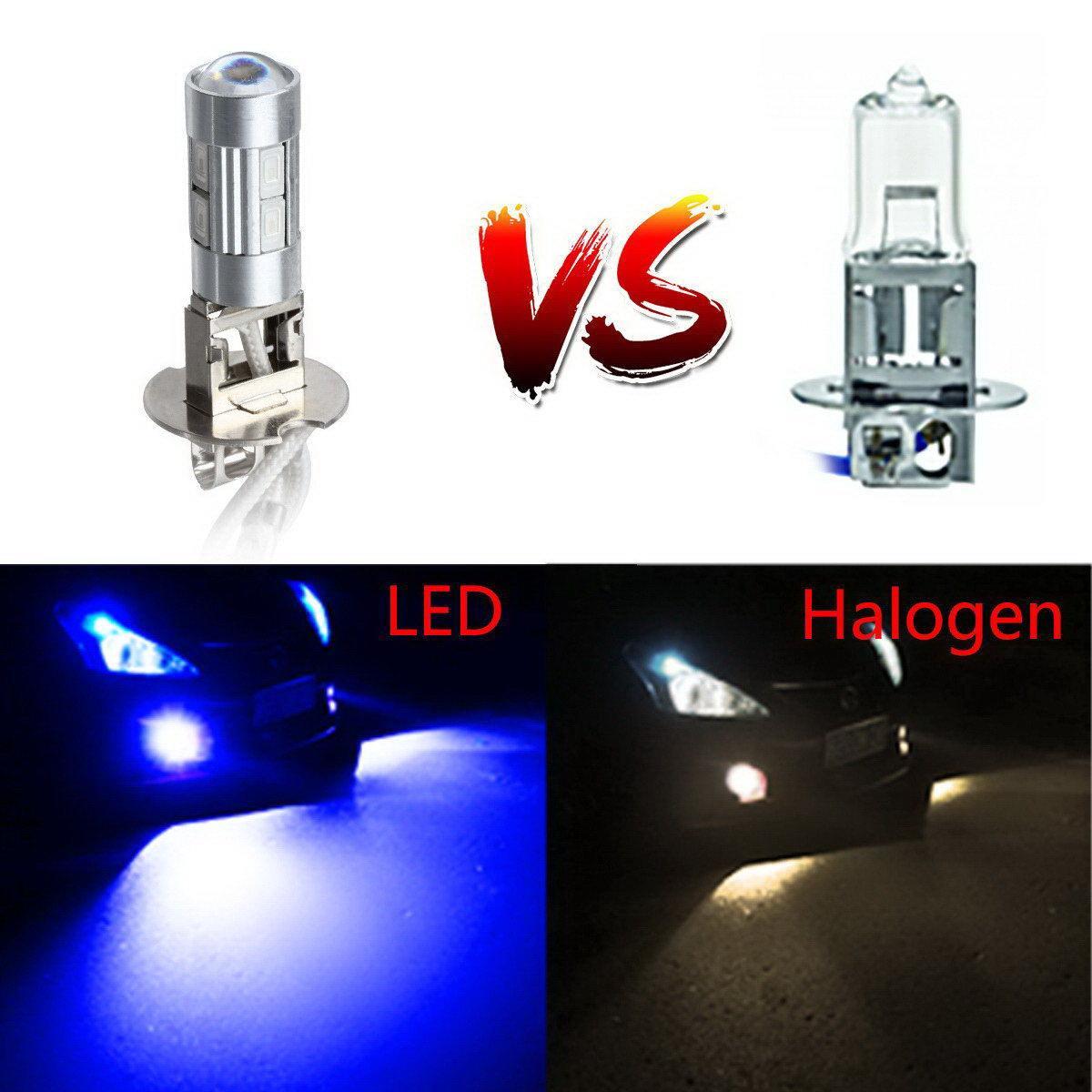 2x Ultra Bright Blue H3 52130 High Power 10 5730 SMD LED Bulb Fog Running Light