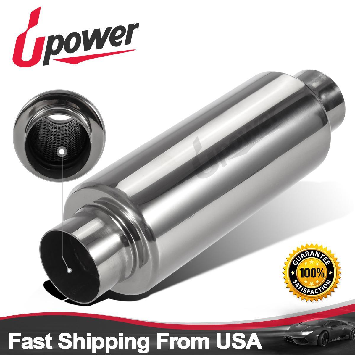 """Jones Exhaust Turbine Muffler 2.5/"""" Resonator 304 Stainless Steel"""
