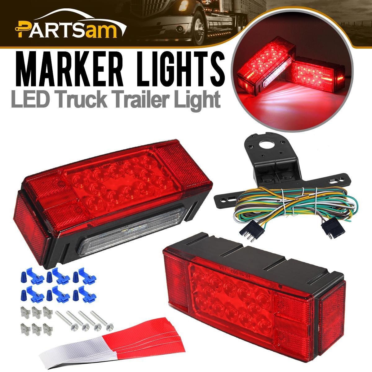 LED Stop Trailer Light Kit Red//White 12V Lights Truck Trailer Boat Brake License